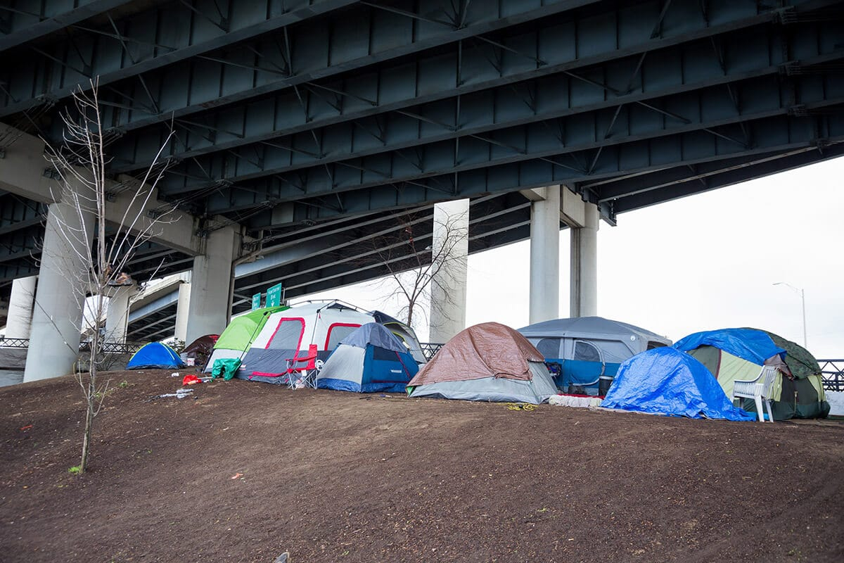 Homeless Tent Camp Portland Oregon
